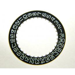 Indicateur de quantième noir JAEGER LECOULTRE Cal. 630
