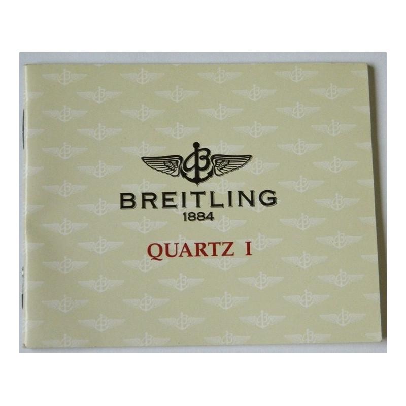 Livret d'instruction BREITLING Quartz I