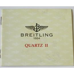 Livret d'instruction BREITLING Quartz II