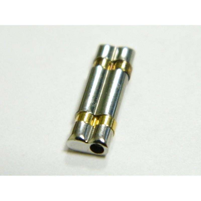 Maillon acier et doré CORUM 15mm