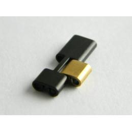 Maillon acier noir et doré FERRARI 16mm