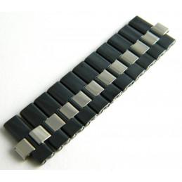 Maillons acier bleu foncé et argenté FERRARI 16mm