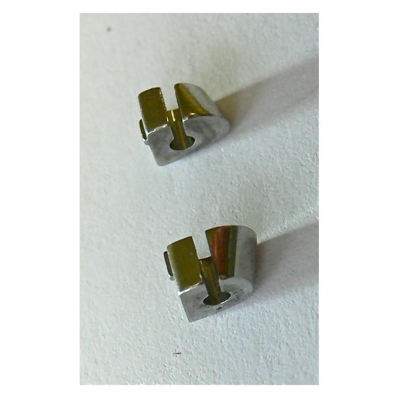 Pièces de bout (droite &  gauche) pour bracelet acier Cartier Tank Française grande taille