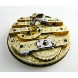 Mouvement de montre gousset décoré