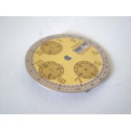 cadran TISSOT chrono bi-color champagne & argent