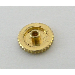 Couronne Piaget en or jaune extra plate (remontage par l'arrière)