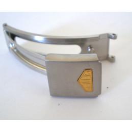 fermoir HEUER gris/doré 10mm
