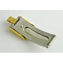 Fermoir plaqué or BAUME & MERCIER Linea 13mm