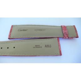 Bracelet Cartier croco 21 mm pour Tank Solo GM