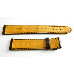 Bracelet croco noir BOUCHERON - 18 mm -