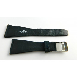 Bracelet cuir retourné bleu foncé HAMILTON 26mm avec boucle acier