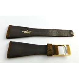 Bracelet cuir retourné marron HAMILTON 26mm avec boucle doré