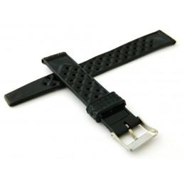 Bracelet façon TROPIC seconde génération noir en 18mm