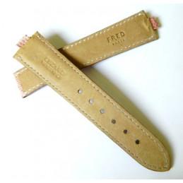 Bracelet lézard rose pale FRED 19mm