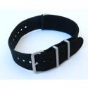Bracelet NATO Noir 20mm