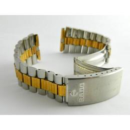 Bracelet or/acier RADO 22mm