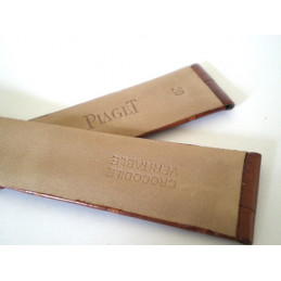 bracelet PIAGET croco marron 20mm