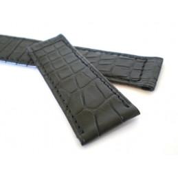 Bracelet PIAGET croco noir 19mm