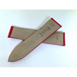 bracelet PIAGET croco rouge vif - 20mm