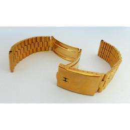 Bracelet plaqué or HAMILTON 18mm