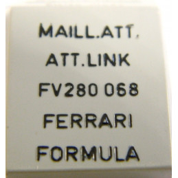 Attache maillon dorée FERRARI 8mm