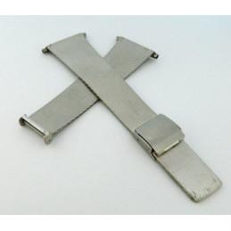 Bracelet acier maille milanaise 28mm