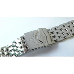 Bracelet acier Pilot BREITLING pour Navitimer 20mm neuf (nouveau modèle)