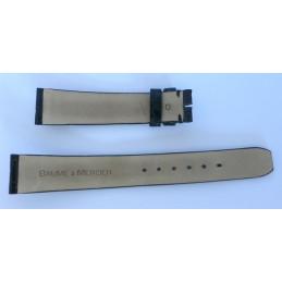 Bracelet Baume & Mercier croco noir - 16 mm