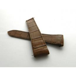 bracelet BOUCHERON croco marron 22mm
