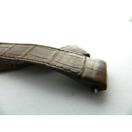 bracelet BOUCHERON croco marron 22mm