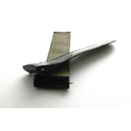 bracelet BOUCHERON croco noir grandes écailles 24mm