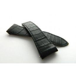 bracelet BOUCHERON croco noir petites écailles 24mm
