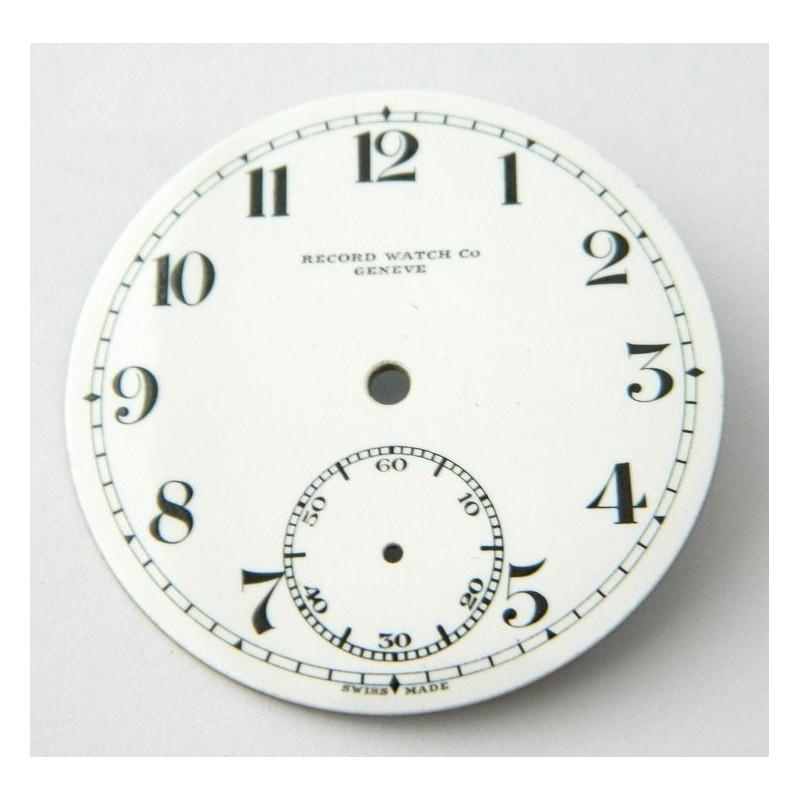 Cadran émaillé RECORD 42.15mm
