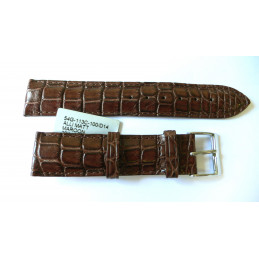 Bracelet croco rembordé 20mm