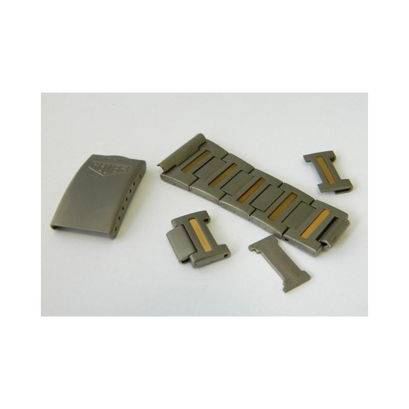 Fermoir & maillons HEUER titanium