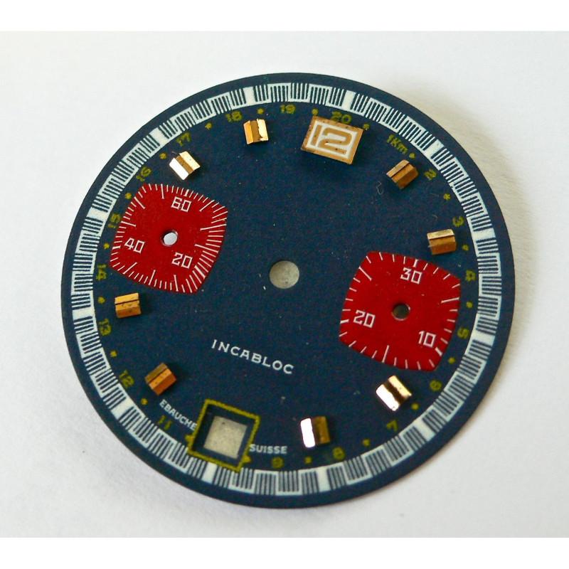 Cadran de chronographe pour valjoux 7734 - diamètre 29,52 mm