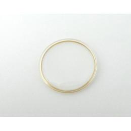 Verre TISSOT 29.70mm - bague dorée