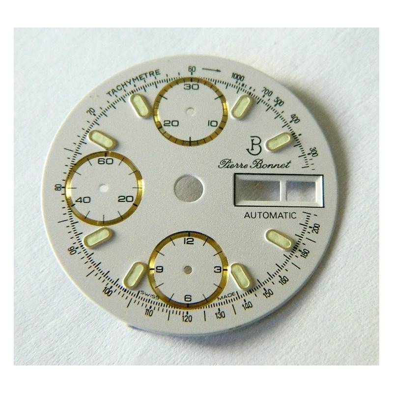 Cadran PIERRE BONNET pour chronographe valjoux 7750 - 28.5mm