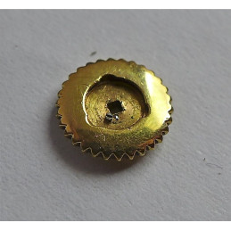 couronne Jaeger-Lecoultre en or jaune 8mm pour remontage à l'arrière