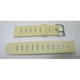 Bracelet Lip Tallon blanc en caoutchouc 20mm