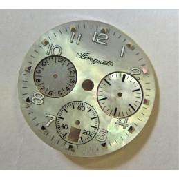 Cadran Breguet Type 20 chrono date femme nacré