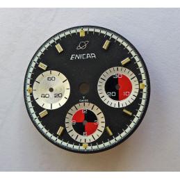 ENICAR chronograph dial