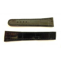 CHOPARD Black crocodile strap 16/13mm
