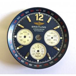 Cadran BREITLING chronomètre automatic bleu