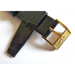 Bracelet MOVADO croco 20/14mm avec boucle