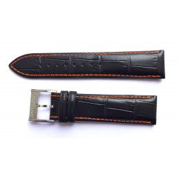 HAMILTON black leather strap 22mm with steel buckle?