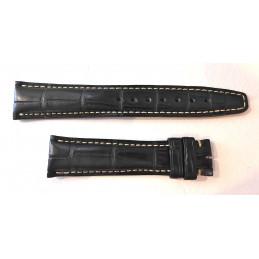 Bracelet croco noir IWC A12707 - 19/16 mm