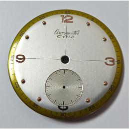 Cadran Chronometre Cyma diametre 30.25 mm