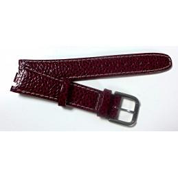TISSOT bracelet cuir imitation requin 20 mm
