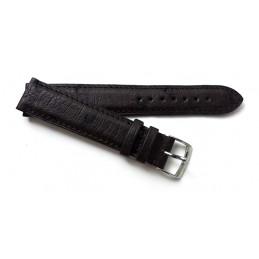 Bracelet autruche avec boucle acier 18 mm